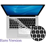 "Kuzy - UK/EU CLEAR Keyboard Cover Silicone Skin for MacBook Pro 13"" 15"" 17"" Aluminum Unibody fits MacBook with or w/out Retina Display / Macbook Air 13 / MacBook White (European/ISO Keyboard Layout)"