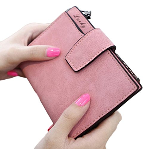 luniwei-women-eco-leather-frosted-solid-zipper-purse-handbag-card-holder-insert-organizer-wallet