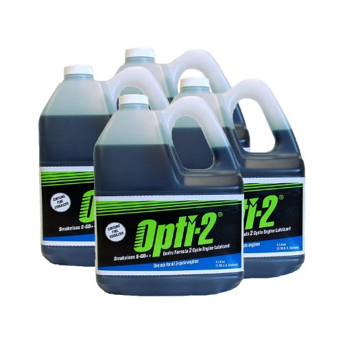 Opti-2 20044 1 Gallon 2-Cycle Engine Lubricant w/ Fuel Stabilizer - Case of 4 (Opti Fuel compare prices)