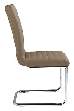 freischwinger schwingstuhl braun kunstleder pirma dc743. Black Bedroom Furniture Sets. Home Design Ideas