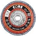 "CoreTemp 86420 Type 27 High Density Abrasive Flap Disc with Plastic Turbo Backing, Threaded Hub, Zirconium, 4-1/2"" Diameter, 5/8""-11 Arbor, 120 Grit  (Pack of 5)"