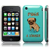 iPhone 3GS / 3G Pugs & Kisses (Designed by Creative Eleven) Image TPU Gel Skin / Case / Cover Part Of The Qubits Accessories Rangeby Qubits