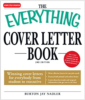 everything cover letter book (everything (school and careers)) - burton jay nadler