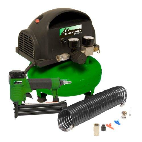 Black Rock 50427 2 Inch Brad Nailer And Compressor Combo Kit