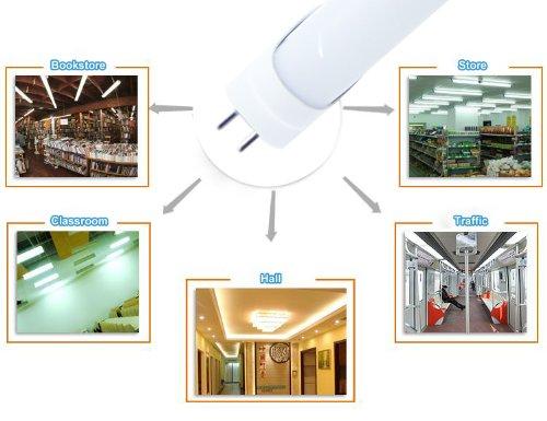 Thg T8 9W 60Cm Smd 2835 48 Led Tube Light Lamp Bar 3200K Warm White Ac 85-260V Shopping Mall Store Shop Plaza front-186563