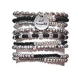 CAT HAMMILL  ( キャットハミル ) ブレスレット Black and Silver Coco set charms bracelet ココア キャット チャーム ブレスレットセット ブラック シルバー ポーチ セット : 海外 オーストラリア