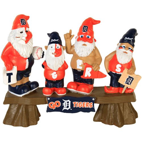 MLB Detroit Tigers Fan Gnome Bench
