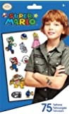 Super Mario Temporary Tattoos - 75 Ct
