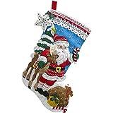 "BUCILLA 86647 Nordic Santa Felt Applique Stocking Kit, 18"""