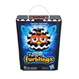 Zig Zag Furby Furblings Black and White Plush Figure