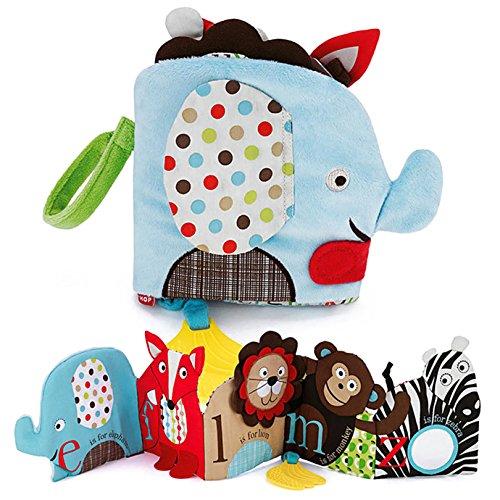 Eleery Elefant Soft-Bilderbuch Babybuch Spielbuch Baby spielzeug first Book Blätterhäuschen Buggybuch (Elefant)