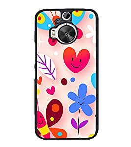 Happy Wallpaper 2D Hard Polycarbonate Designer Back Case Cover for HTC One M9 Plus :: HTC One M9+ :: HTC One M9+ Supreme Camera