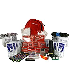 Deluxe Emergency Kit-4 Person, Emergency Zone, Disaster Survival Kit, 72 Hour Kit