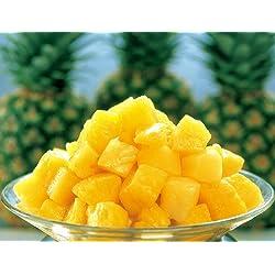 【冷凍パイナップル 1kg】生のパイナップルをひと口サイズにカット、そのまま急速冷凍しました