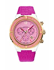 Versace Women's 28CCP15D111 S111 Dv One Cruise Rose Gold IP Pink Topaz Pavé Chronograph Watch