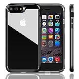 iPhone 7 Plusケース iVAPO iPhone 7 Plus上質カバー PC+TPU二層構造 ソフト 耐衝撃 シンプル 軽量 背面カバー アップルアイフォン7プラス 5.5インチ専門ケース (ジェットブラック)