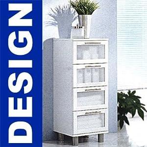badezimmer badezimmerschrank 4 schubladen badschrank hochschrank. Black Bedroom Furniture Sets. Home Design Ideas