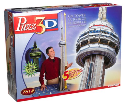 Cheap Hasbro 3D CN Tower 5ft Tall Glows In The Dark Puzzle 761pc (B00083HJ7G)