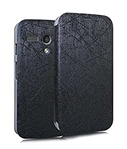 INDISWANK YUSI Series Flip Cover and Screen Guard Combo for Moto G (Black)