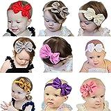 Quest Sweet 9 Pieces Babys Headbands Girls Headband Head Wear Flower