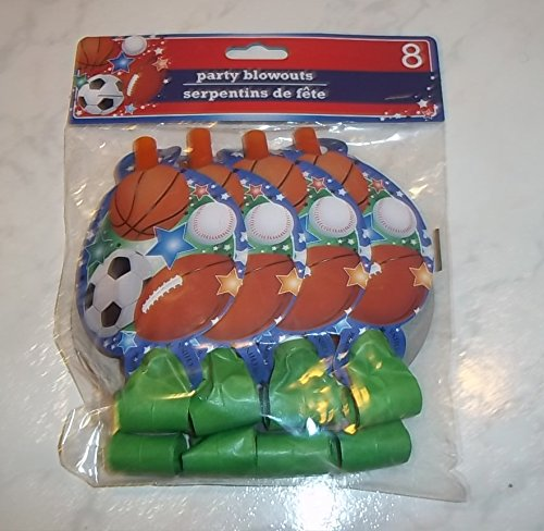 All-Sports Party Blowouts, 8-ct. Packs