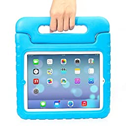 iPad Mini 4 Case - Travellor® Kids Light Weight Kido Series Convertible Handle Kickstand Kids Friendly Shockproof Protective Cover with Stand & Handle for Apple iPad Mini 4 (2015 Release) (Blue)