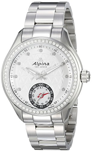 Alpina-Womens-AL-285STD3CD6B-Horological-Smart-Analog-Display-Swiss-Quartz-Silver-Watch