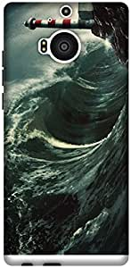 The Racoon Lean Night Waves hard plastic printed back case / cover for HTC One M9 Plus