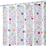 InterDesign Doodle Fabric Shower Curtain, 180 x 180 cm - Multi