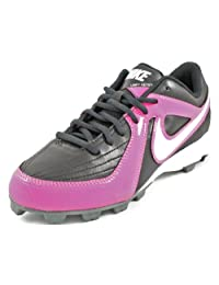 Girls Nike Unify Keystone Molded Softball Cleat Black/Pink Fire II/Cool Grey/White