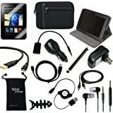 "DigitalsOnDemand ® 14-Item Accessory Bundle for Amazon Kindle Fire HD 7"" Previous 2nd Generation 2012 Release - Leather Case, Sleeve Cover, Screen Protector, HDMI Cable, USB Cables + Chargers (Older Previous Generation - 2012 Release)"