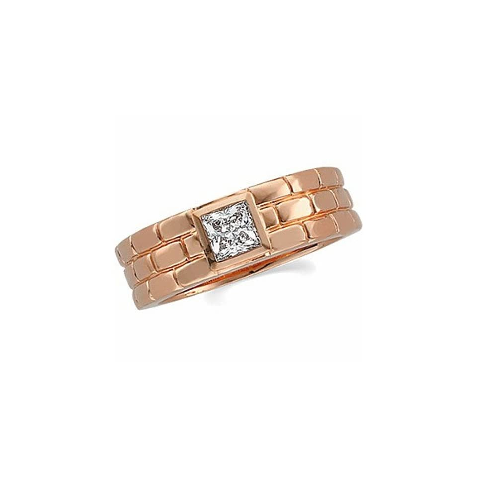 14K Rose Gold Diamond Wedding Band Duo   Gents Ring   0
