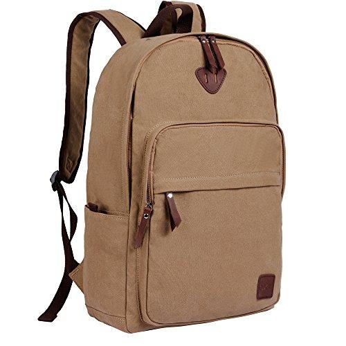 OXA Canvas Backpack Laptop Bag Computer Bag Rucksack Daypack College Bag  School Bag Book Bag Satchel 08e53c0f09dea