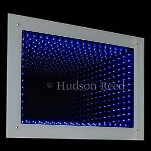 Hudson reed badezimmer spiegel infinity rechteckiger for Spiegel 3d effekt