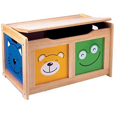 Pintoy Four Friends Natural Wood Surround Toy Chest