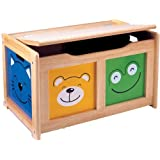 Four Friends Natural Wood Surround Toy Chestby Pintoy