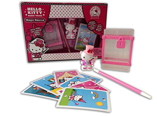 Hello Kitty Magic Safe Trick Set with Wand and Collectible Figurine