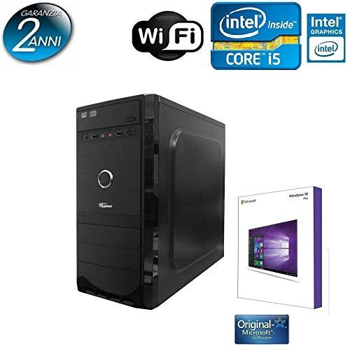 PC DESKTOP QUAD CORE INTEL I5-4460 3,4 GHZ CON LICENZA WINDOWS 10 PROFESSIONAL 64 BIT OR.IGINALE /WIFI/ HD 1TB SATA III/RAM 8GB DDR3 1600MHZ/SCHEDA GRAFICA Intel® HD Graphics 4600 INGRESSI DVI-VGA /USB 2.0 3.0 AUDIO,VIDEO,LAN PC FISSO COMPLETO PER UFFICIO FAMIGLIA LAVORO SCUOLA AZIENDA GAMING TRUSTECH 4680