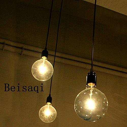 110-220V Vintage Edison Soffitto Apparecchio a Sospensione Industrial Light Lampada Regolabile Lampadario Nero-3 testa