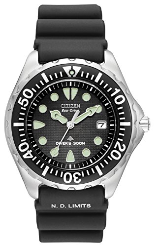 Citizen-Mens-Eco-Drive-Professional-Diver-Watch-with-Black-Dial-Analogue-Display-and-Black-Rubber-Strap-BN0000-04H