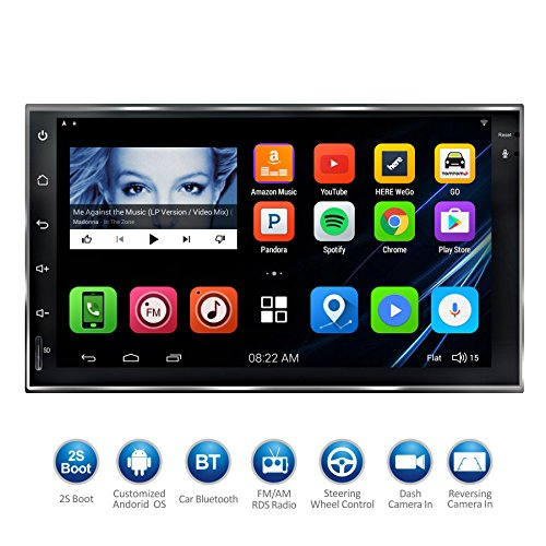 "ATOTO 7""HD Touchscreen Android Car Navigation Stereo - 2 Din Quadcore Car Entertainment Multimedia w/ FM/RDS Radio,GPS,WIFI,BT,Mirror Link(No DVD Player!) M4/M4171"