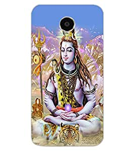 ColourCraft Lord Shiva Design Back Case Cover for MEIZU M3 NOTE