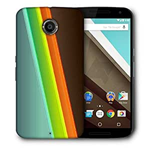 Snoogg Red Green Blue Printed Protective Phone Back Case Cover For LG Google Nexus 6