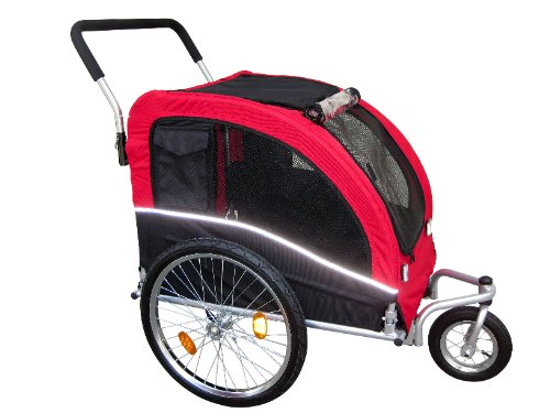 Booyah Large Dog Pet Bike Trailer and Stroller