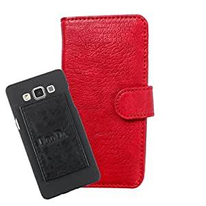 DooDa PU Leather Wallet Flip Case Cover With Card & ID Slots For Lava Xolo Q3000 - Back Cover Not Included Peel And Paste