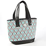 Signature Collection Ladies' Melbourne Insulated Tote - Grey Aqua Leaf Drop