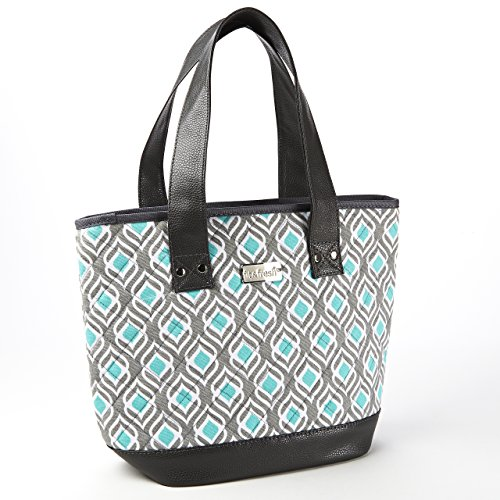 Fit & Fresh Melbourne Insulated Bag (Aqua Leaf Drop) - 1