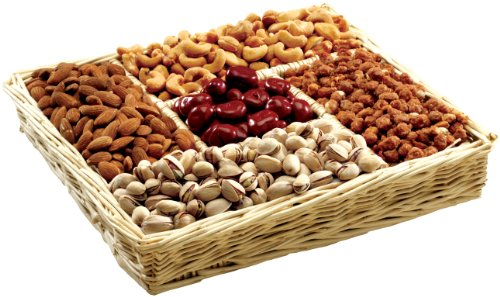 Broadway Basketeers Gourmet Nut Gift Basket for any Occasion