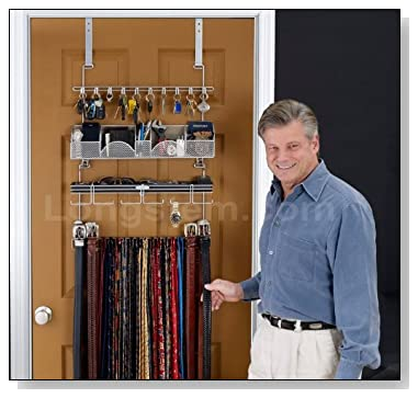 Over The Door Jewelry Organizer. Menu0027s Valet Organizer