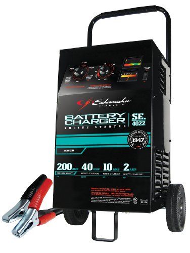 Schumacher SE-4022 2/10/40/200 Amp Manual Wheeled Battery Charger and Tester (Battery Chargers Automotive compare prices)